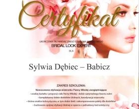 certyfikat Sylwia Dębiec-Babicz, makeupinstructors.pl